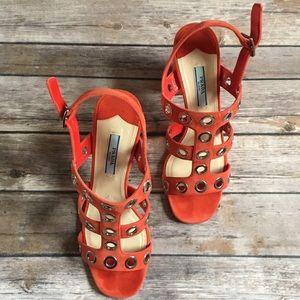 🔥Authentic Prada Suede Sandals Sz 7 🔥